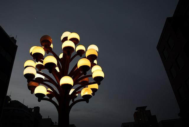Night View, Street Lights, Electric Light, Light, Night