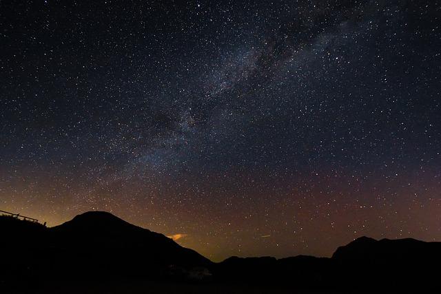 Taiwan Hehuan Mountain, Galaxy, Night View