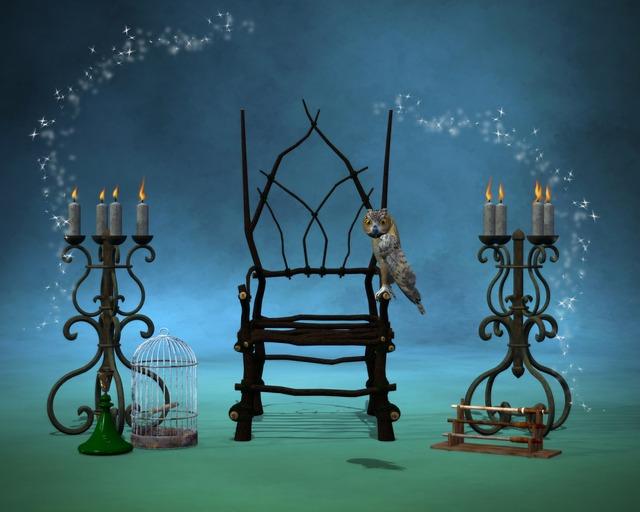 Magic, Fantasy, Night, Building, Archway, Wizards