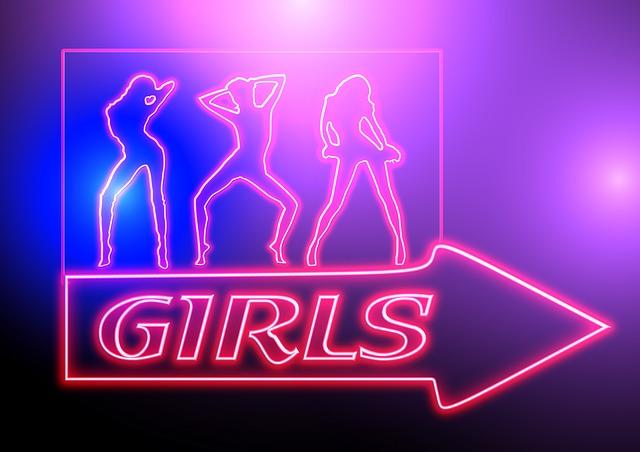 Girl, Dance, Personal, Disco, Nightclub, Arrow, Note