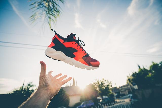 Footwear, Hand, Nike, Shoe