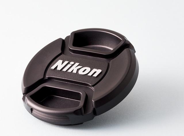 Lens Cap, Nikon, Black And White