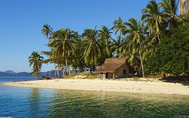 Ocean, Swim, Nipa Hut, View, Nature, Weather, Beautiful