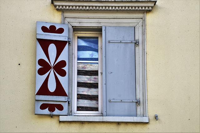 House, Old Windows, Window Sill, The Door, No One
