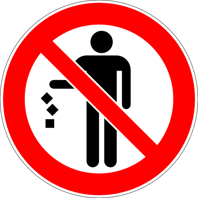 Trash, Prohibited, No, Rubbish, Sign
