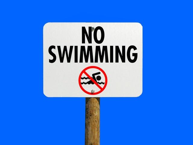 No Swimming, Sign, Warning, Danger, Water, Safety