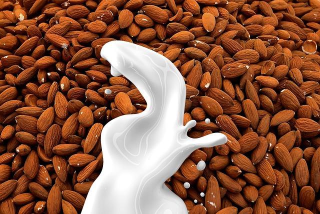 Almond Milk, Milk, Nut Milk, Non Dairy, Almond