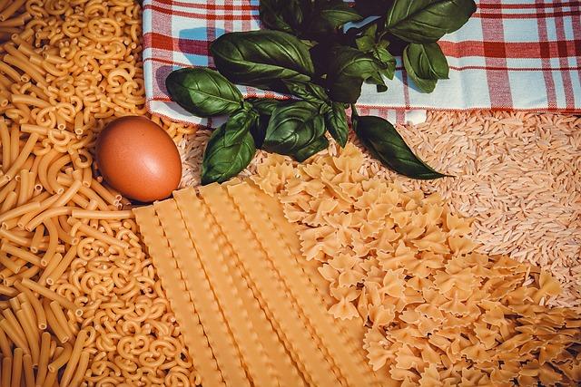 Noodles, Pasta, Macaroni, Gobbetti, Mafaldine, Farfalle