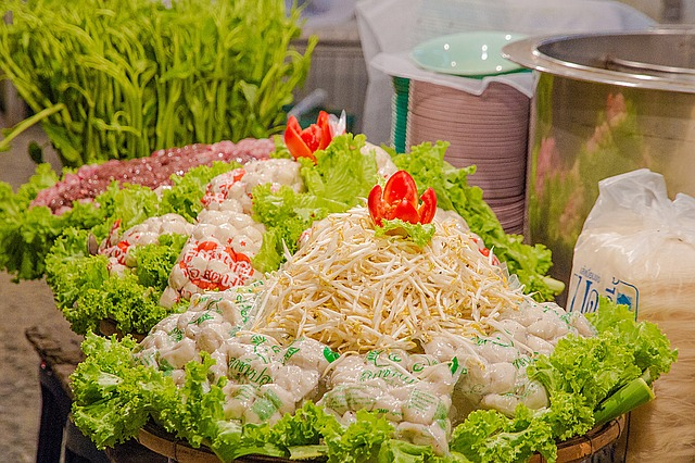 Noodles, Meatballs, Bean Sprouts, A Small Path