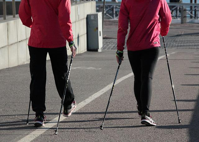 Nordic Walking, Summer, Fitness, Sports Clothing, City