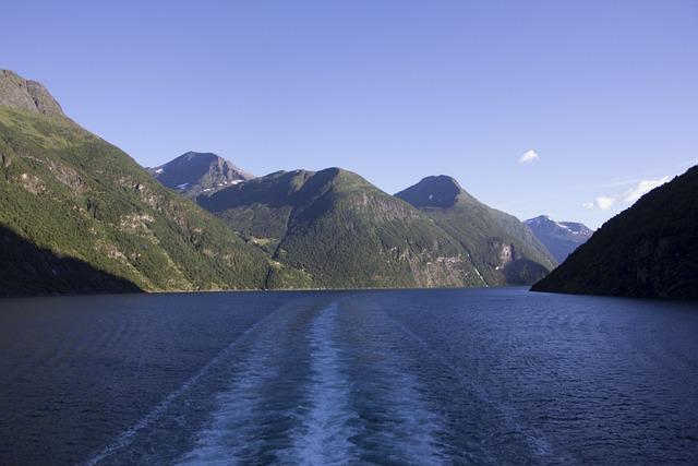 Nordkapp, Fjords, Ship Travel, Cruise, Mountains