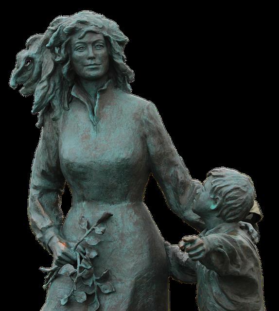 Woman, Child, North Cape, Norway, Wait, Seafarer