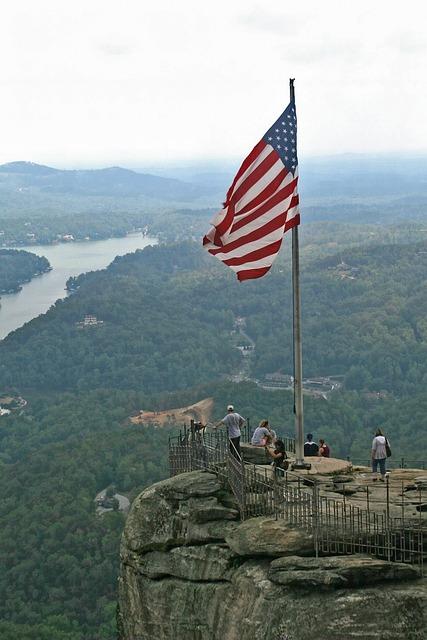 Chimney Rock, North Carolina, United States Flag