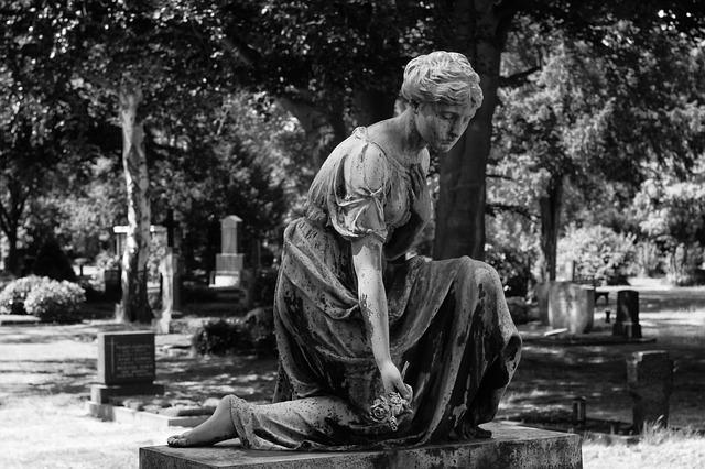 Tomb Art, North Cemetery, Black And White Photography