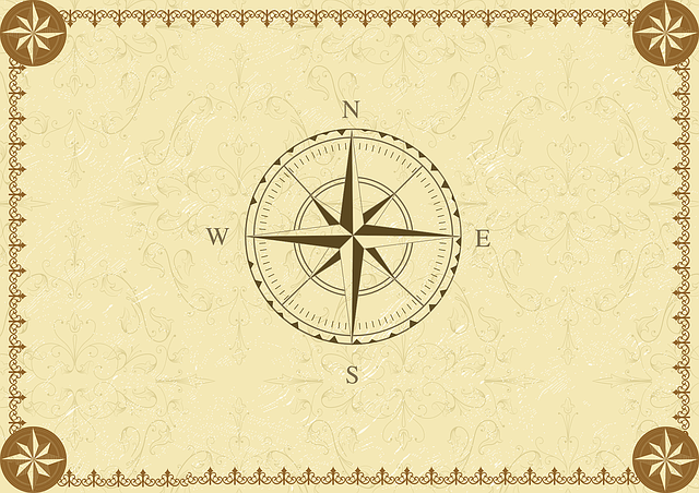 Compass, Vintage, South, West, East, North, Direction