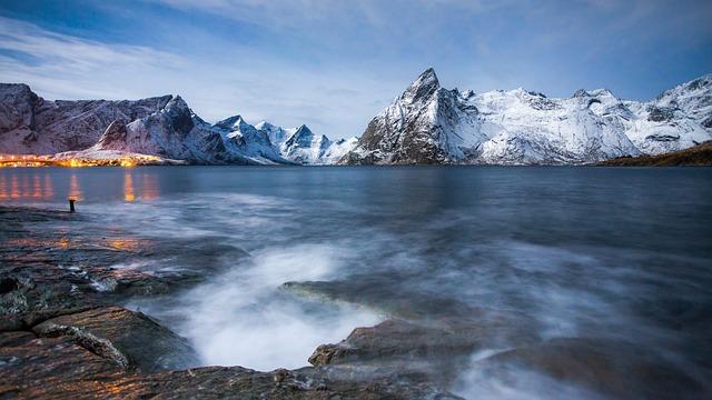Lofoten, North, Nordland, Mountain, Landscape, Winter