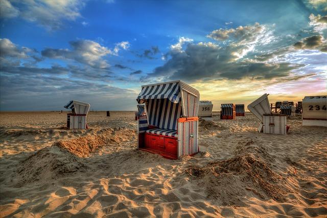 Beach Chair, Sea, Recovery, Sand, Coast, North Sea