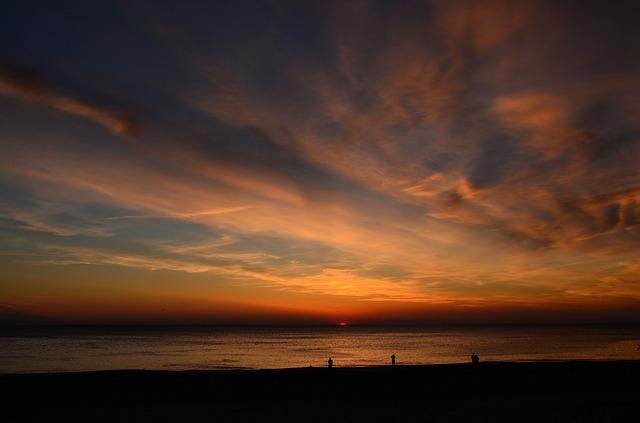 Sylt, Wenningstedt, Sunset, Beach, North Sea, Island