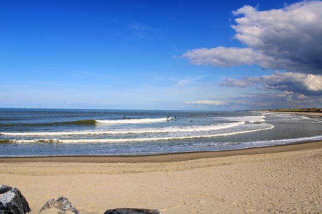 Oostende, Belgium, City, North Sea, Blue, Sea, Sky