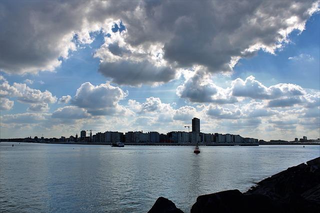 Oostende, Belgium, North Sea, Strekdam, Groyne, City