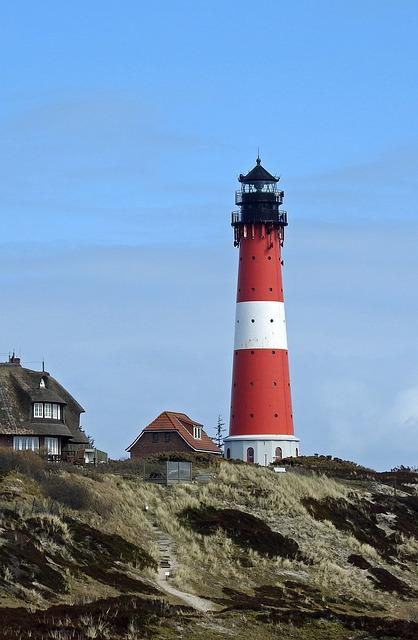 Lighthouse, Sylt, Coast, Beach, North Sea, Hörnum