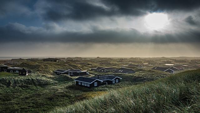 Denmark, Abendstimmung, North Sea, Dunes