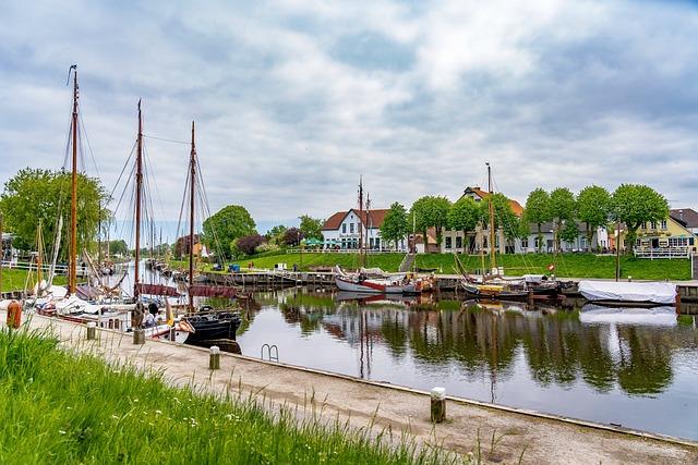 Port, Carolinensiel, East Frisia, Coast, North Sea