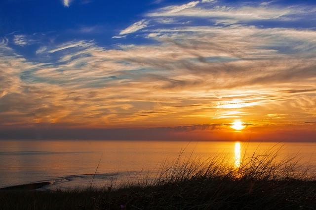 Sunset, Evening, Sea, Summer, Holland, Beach, North Sea