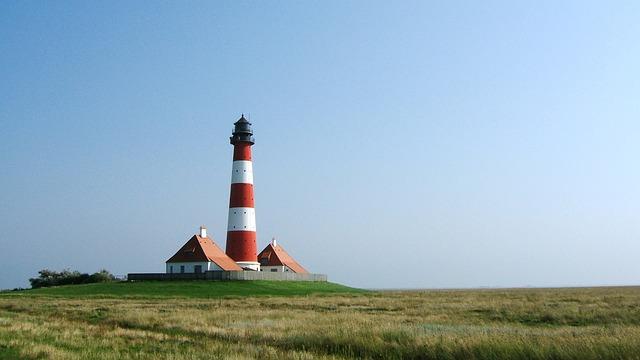 North Sea, Lighthouse, Watts, Wadden Sea, Nordfriesland