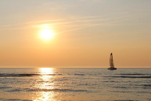 Sunset, Langeoog, North Sea, Sea, East Frisia, Panorama
