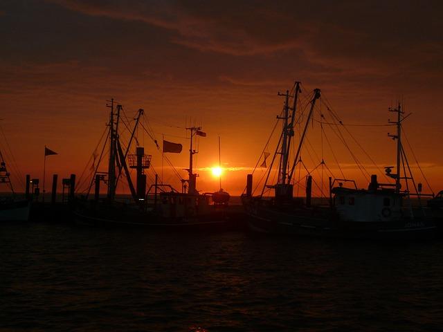 Sunset, North Sea, Nordfriesland, Watts, Wadden Sea
