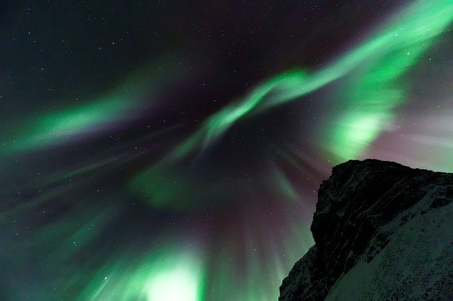 Aurora Borealis, Dark, Night, Northern Lights, Sky