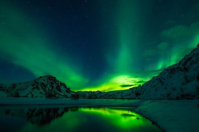 Iceland, Aurora Borealis, Northern Lights, Beautiful