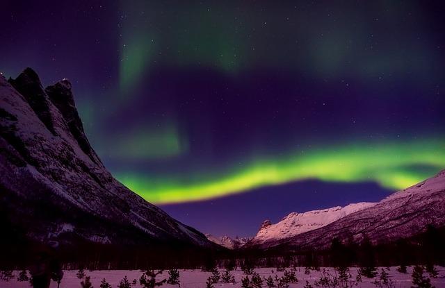 Norway, Northern Lights, Aurora Borealis, Gases