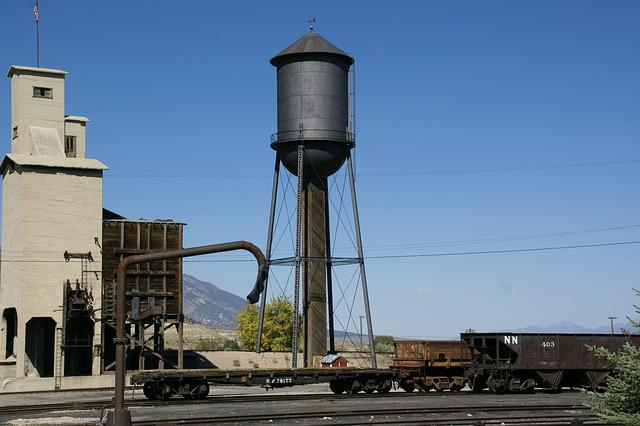 Water Tower, Ely, Nevada, Train, Station, Usa, Northern