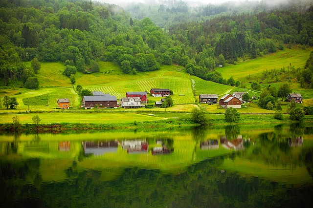 Norway, Fjord, River, Water, Reflections, Beautiful