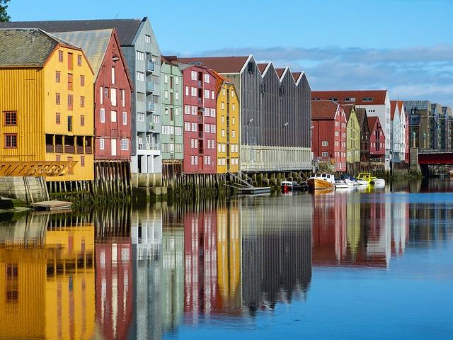 Norway, Trondheim, Storage Houses, Scandinavia
