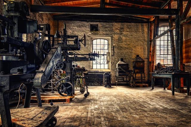 Workshop, Factory, Production, Nostalgia, Retro