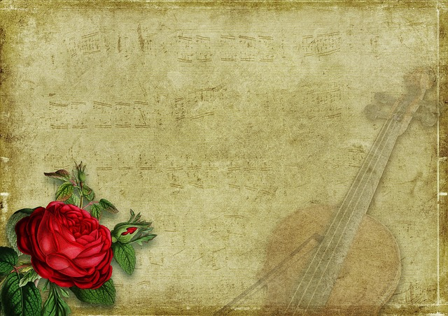 Rose, Violin, Music, Strings, Vintage, Nostalgia