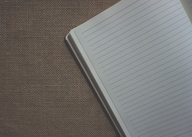 Lined Paper, Notebook, Note, Sackcloth