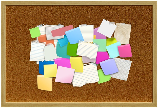 Bulletin Board, Stickies, Post-it, List, Note, Notes