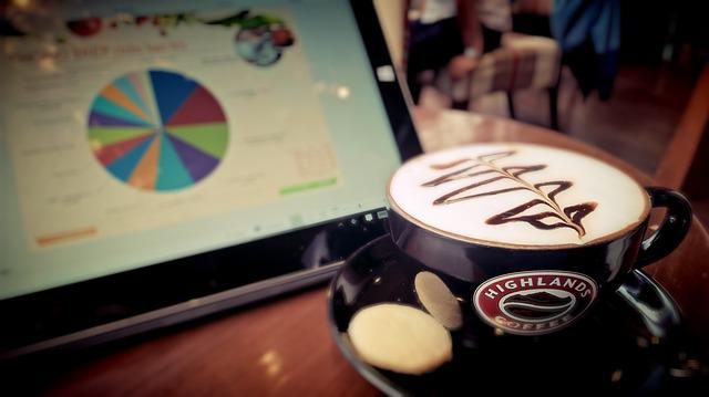 Coffee, Cup, Technology, Working, Workplace, Notebook