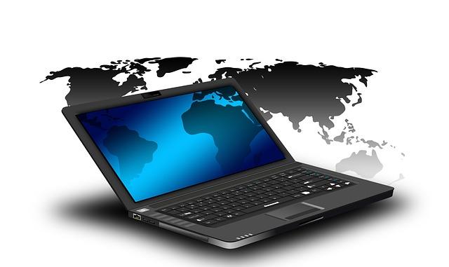 Laptop, Notebook, Globe, Continents, Emerging Markets