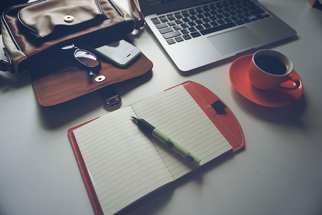 Laptop, Coffee, Notebook, Pen, Glasses, Technology