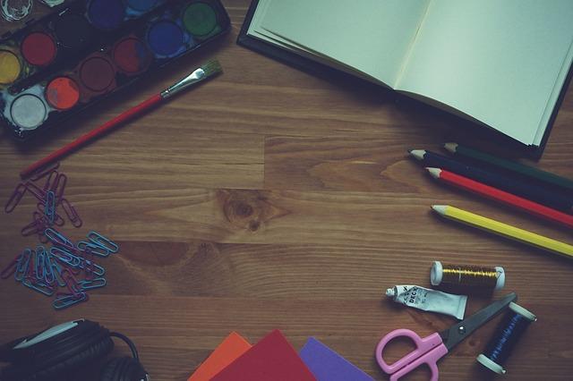 Paint, Notebook, Brush, Pencil, Foam Paper, Painting