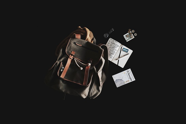 Backpack, Book, Money, Notebook, Pen, Travel Bag