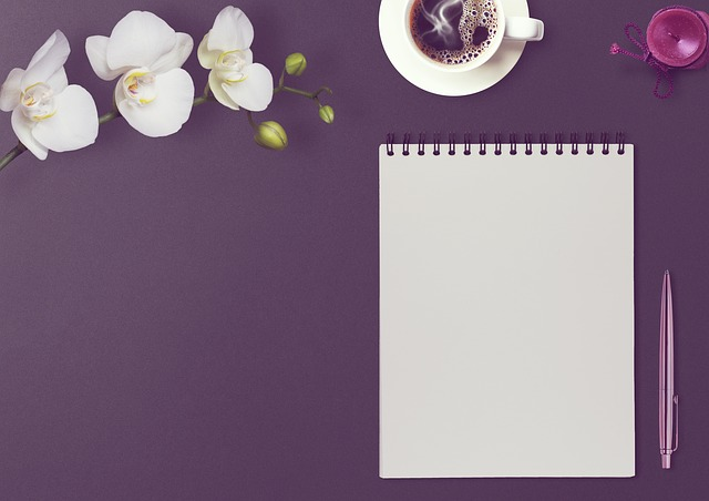 Table, Notepad, Coolie, Orchid, Candle, Blog, Blogger