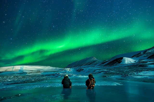 Aurora, Aurora Borealis, Snow, Nothern Lights