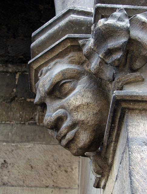 Notre Dame De Liesse, Basilica, Relief, Sculpture, Face