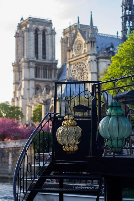Paris, Summer, Lamps, Notre-dame